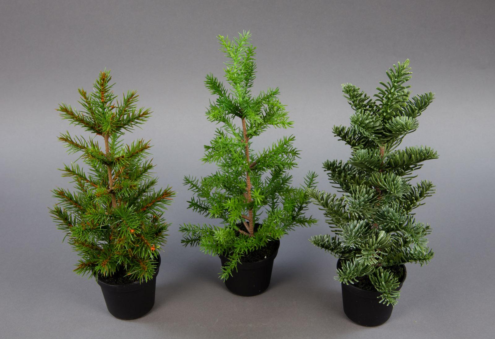 3er set tannenb umchen natura 30cm pf k nstlicher tannenbaum kunststoff. Black Bedroom Furniture Sets. Home Design Ideas
