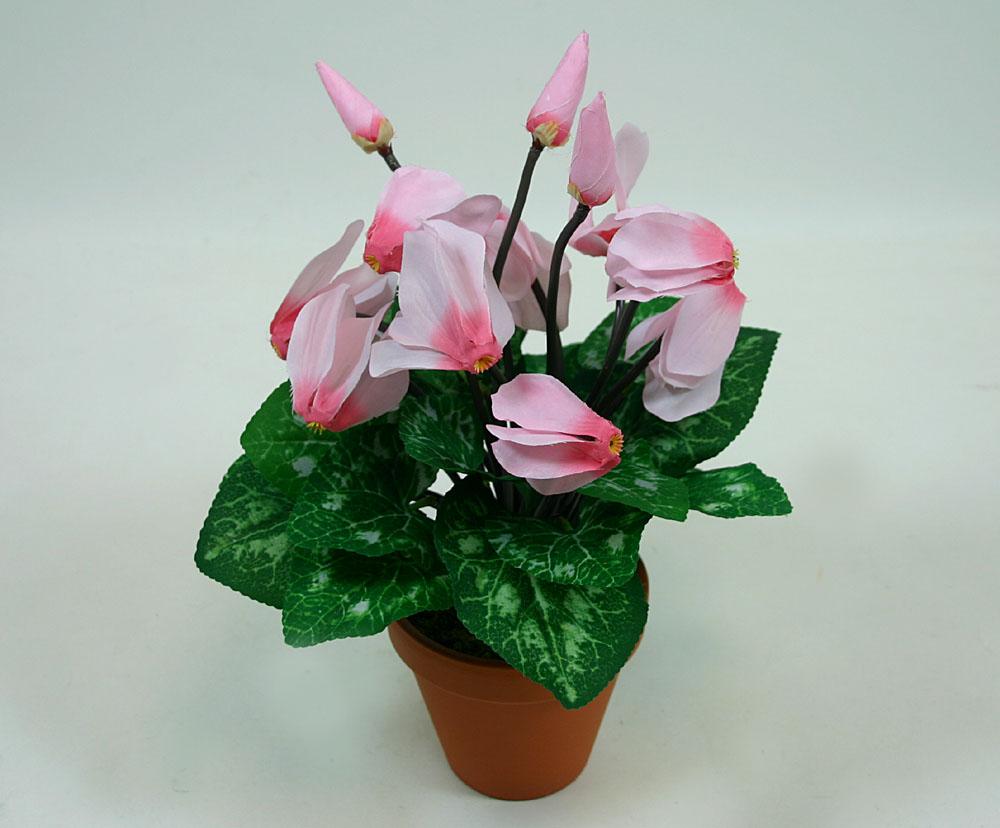 alpenveilchen rosa fp kunstpflanzen kunstblumen ebay. Black Bedroom Furniture Sets. Home Design Ideas