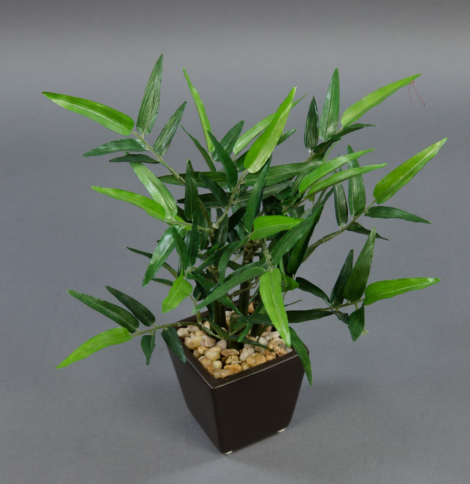 bambus 26cm im keramiktopf pf k nstlicher baum kunstpflanzen kunstbambus ebay. Black Bedroom Furniture Sets. Home Design Ideas