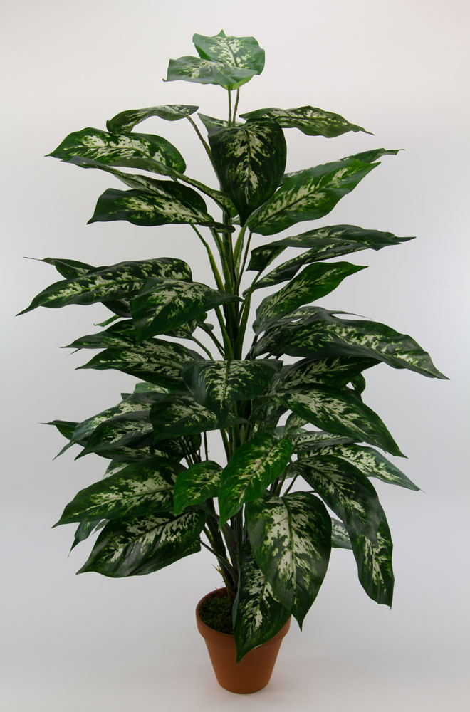 dieffenbachia pflanze 90cm gr n gelb pf kunstpflanzen kunstbaum ebay. Black Bedroom Furniture Sets. Home Design Ideas