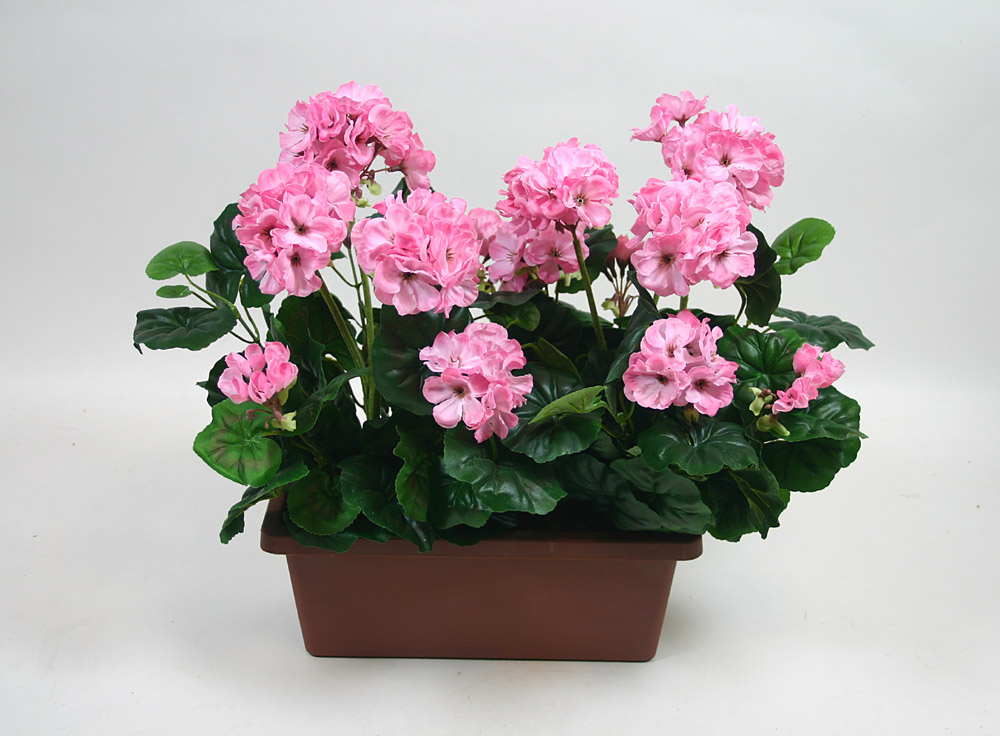 geranienkasten 45cmx40cm rosa pink dp kunstpflanzen. Black Bedroom Furniture Sets. Home Design Ideas