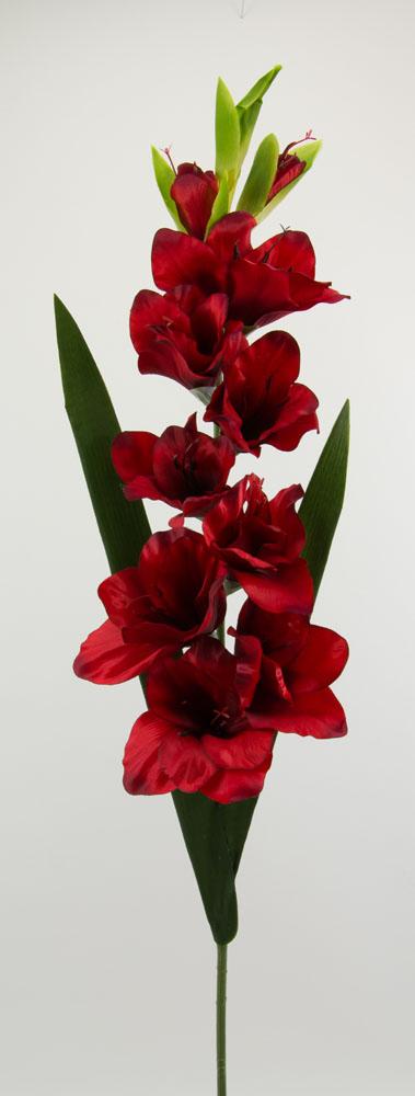 gladiole 92cm rot ig seidenblumen k nsliche blumen. Black Bedroom Furniture Sets. Home Design Ideas