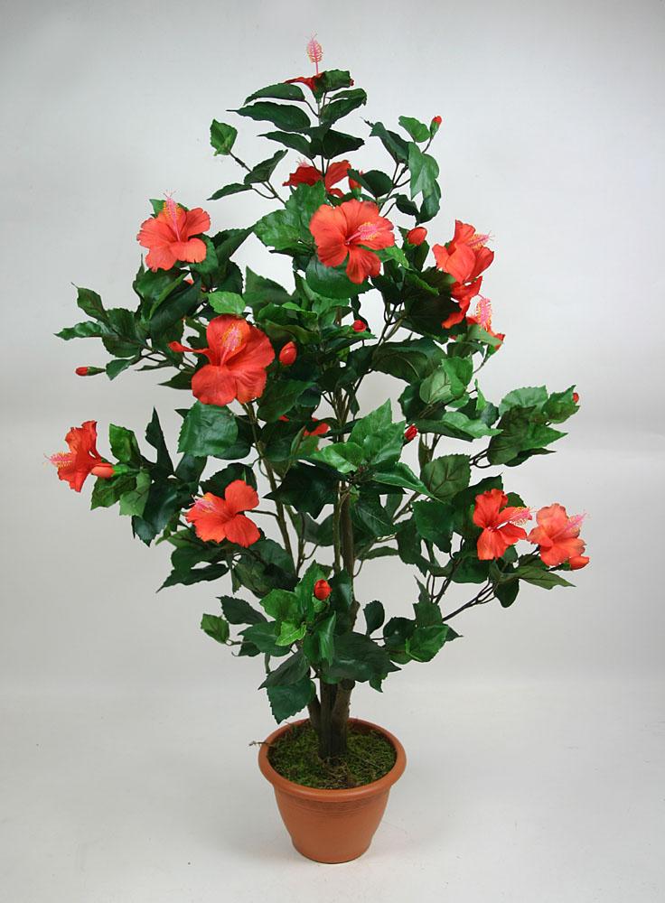 hibiskusbaum 90cm rot ga kunstpflanze hibiskus ebay. Black Bedroom Furniture Sets. Home Design Ideas