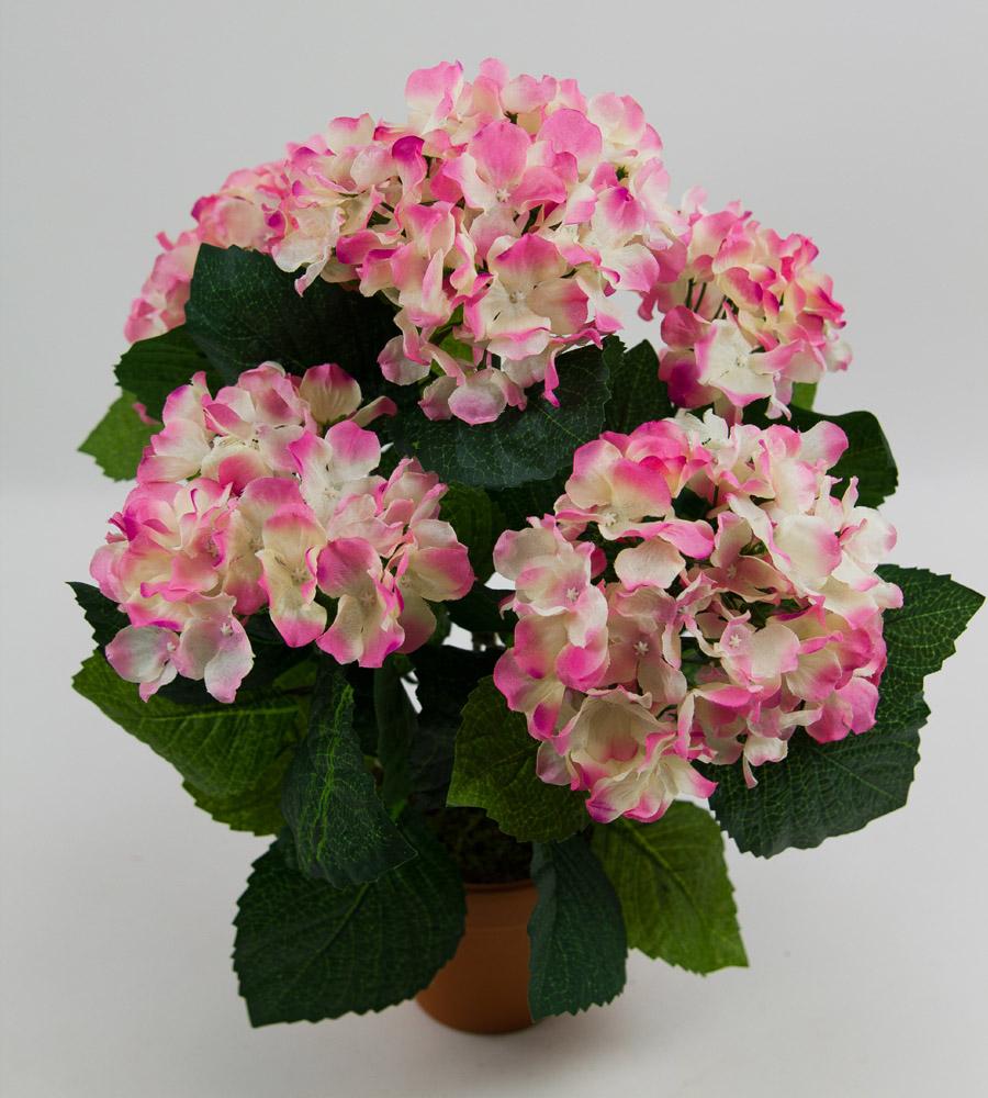 hortensienbusch gro 40cm rosa pf k nstliche blumen hortensie kunstblumen ebay. Black Bedroom Furniture Sets. Home Design Ideas