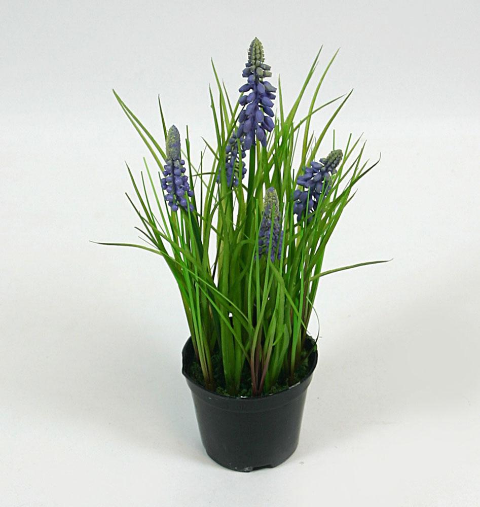 hyazinthen im topf 25cm blau lila ga seidenblumen. Black Bedroom Furniture Sets. Home Design Ideas