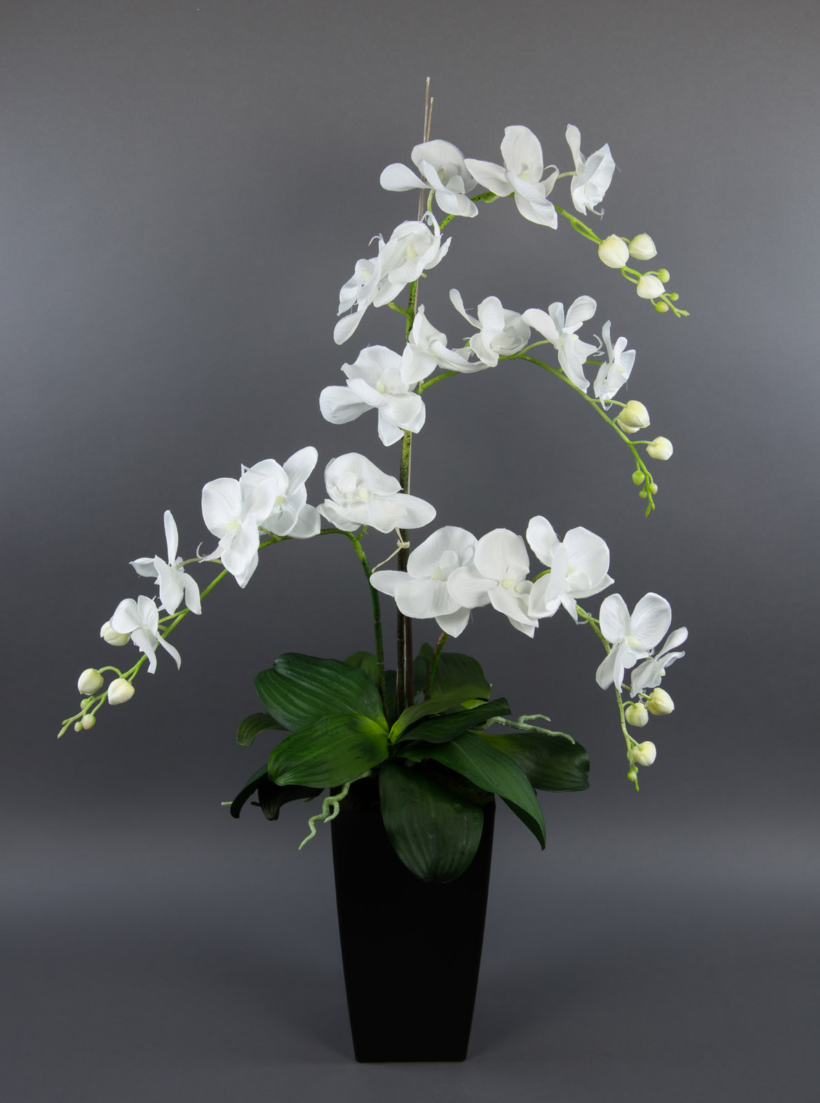 Orchideen arrangement deluxe 80cm wei ad k nstliche orchidee blumen kunstblumen ebay - Orchideen arrangement ...