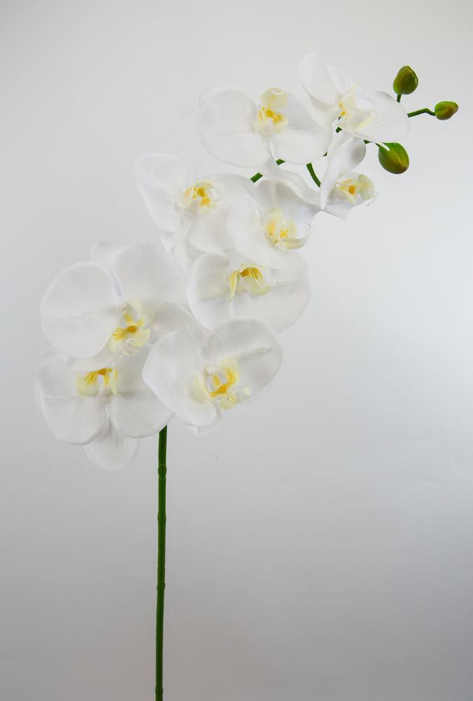 orchideenzweig real touch 100cm wei gelb ad kunstblumen. Black Bedroom Furniture Sets. Home Design Ideas