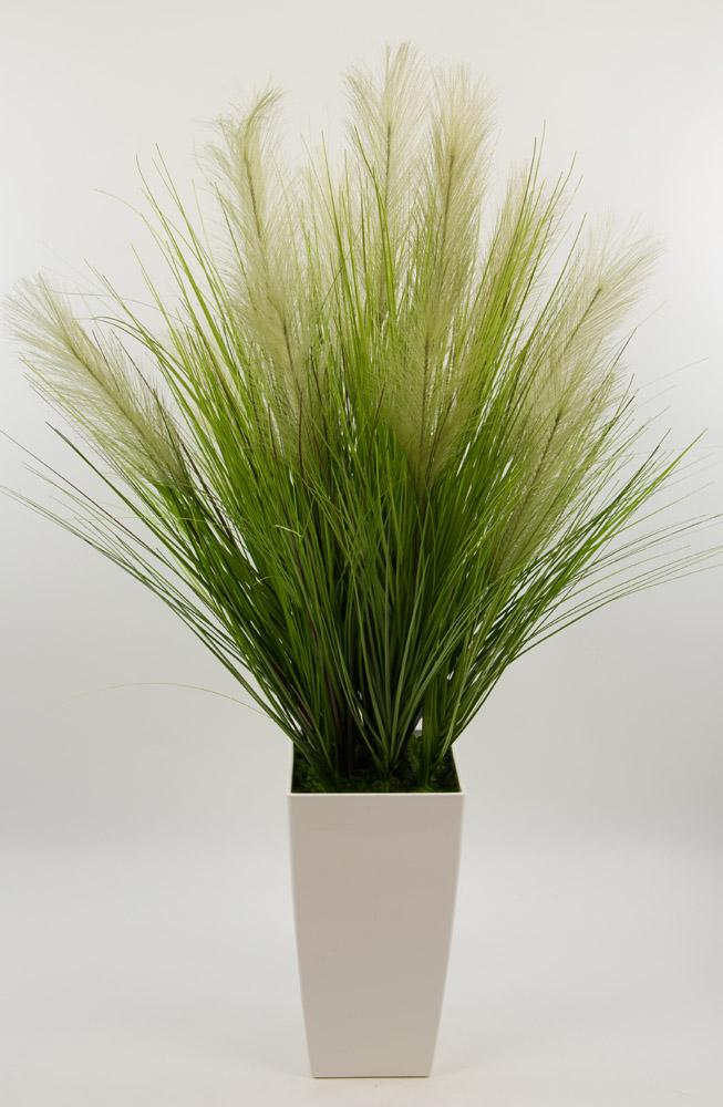 palmengras busch 80cm im wei en hochtopf dp kunstpflanzen. Black Bedroom Furniture Sets. Home Design Ideas
