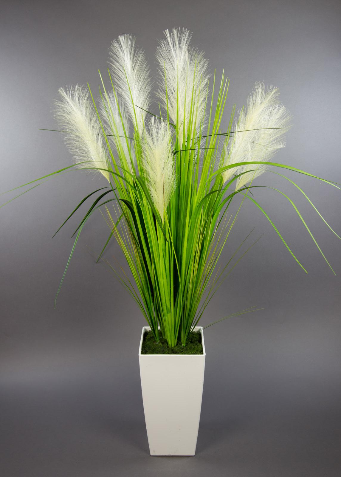 palmengrasbusch 90cm im wei en hochtopf dp kunstpflanzen k nstliche pflanzen ebay. Black Bedroom Furniture Sets. Home Design Ideas
