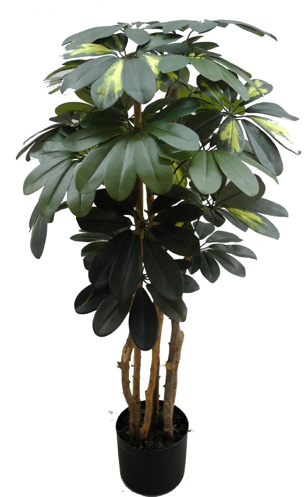 schefflera 90cm gr n gr n gelb da k nstlicher baum kunstbaum kunstpflanzen ebay. Black Bedroom Furniture Sets. Home Design Ideas
