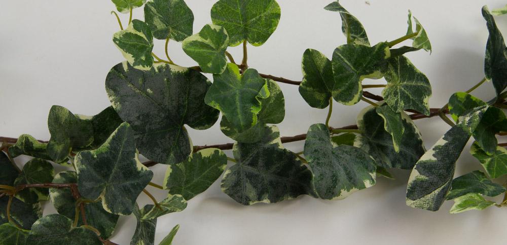 schwedische efeugirlande deluxe180cm gr n wei ga k nstliches efeu kunstpflanze ebay. Black Bedroom Furniture Sets. Home Design Ideas
