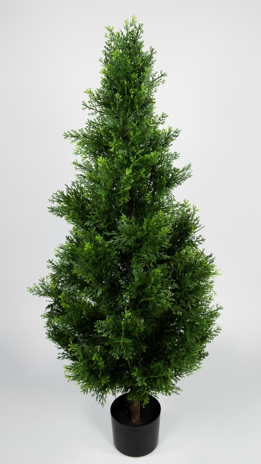zeder konifere natura 120cm gr n la kunstpflanzen k nstliche pflanzen thuja ebay. Black Bedroom Furniture Sets. Home Design Ideas