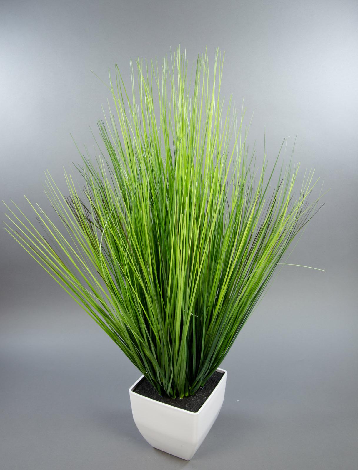 dekogras 62x45cm im wei en topf dp k nstliches gras grasbusch kunstpflanzen ebay. Black Bedroom Furniture Sets. Home Design Ideas