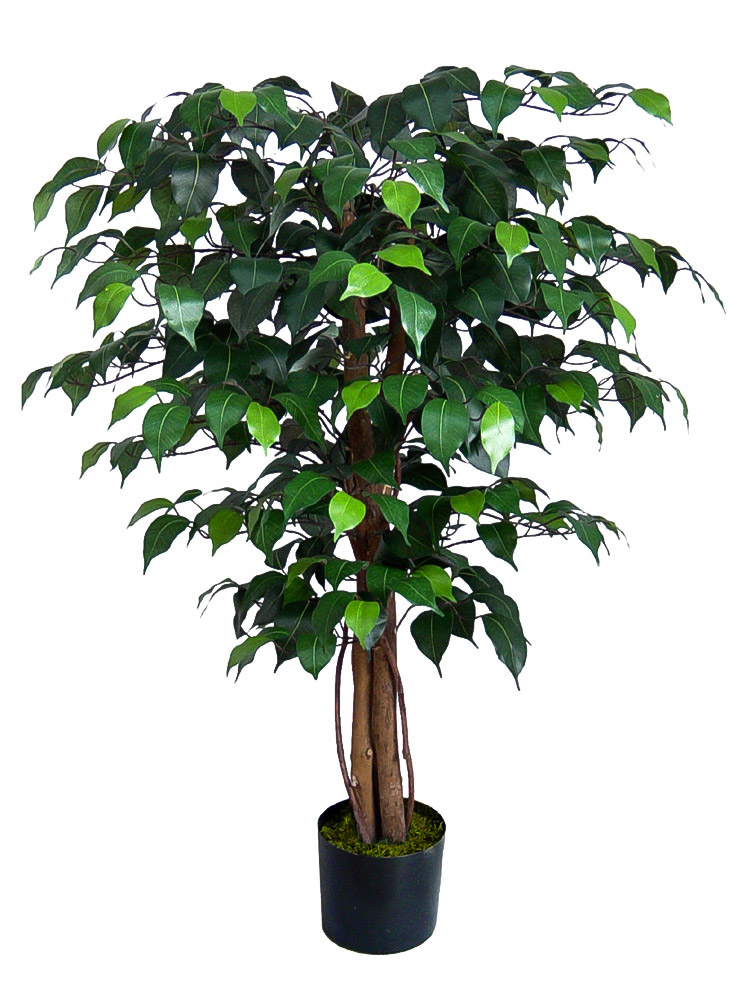 ficus benjamini 90cm gr n da k nstlicher baum kunstbaum kunstpflanzen k nstb ume ebay. Black Bedroom Furniture Sets. Home Design Ideas