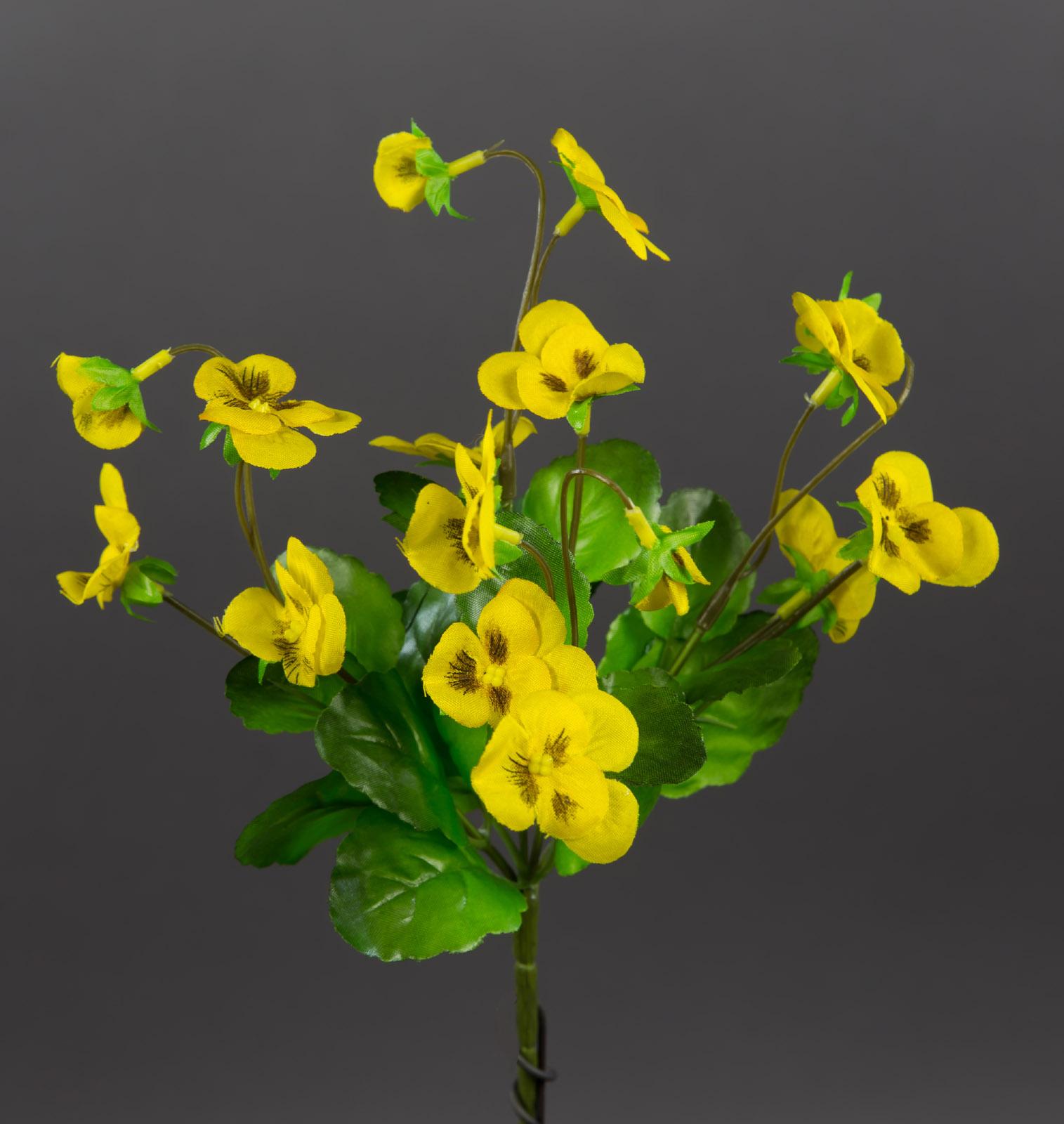 hornveilchen 22cm gelb fi k nstliche pflanzen stiefm tterchen kunstblumen ebay. Black Bedroom Furniture Sets. Home Design Ideas