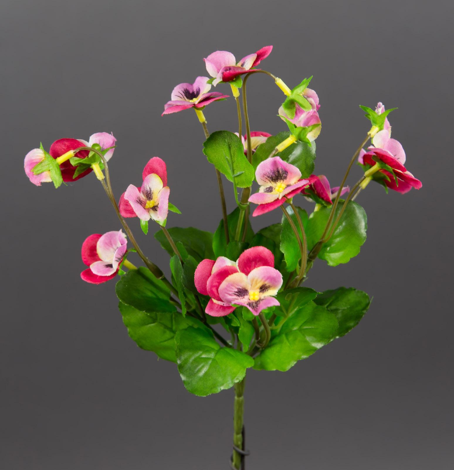 hornveilchen 22cm rosa pink fi k nstliche pflanzen stiefm tterchen kunstblumen ebay. Black Bedroom Furniture Sets. Home Design Ideas