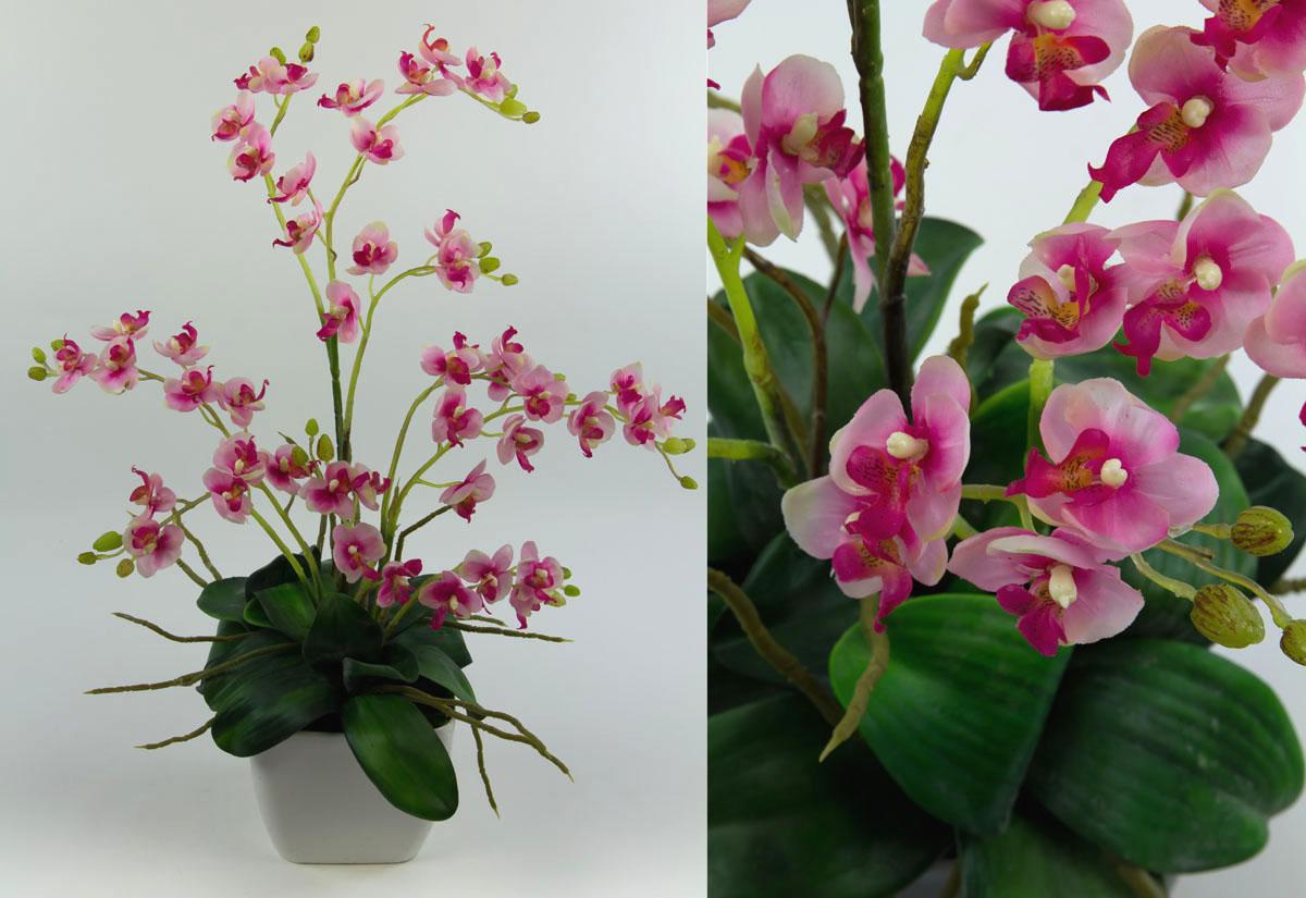 orchideen arrangement rosa pink im wei en dekotopf ja kunstblumen kunstpflanzen 4260355155831 ebay. Black Bedroom Furniture Sets. Home Design Ideas