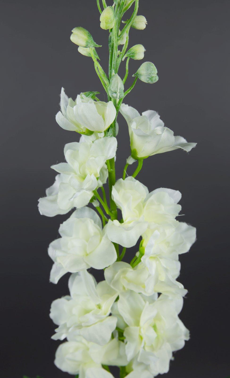 rittersporn 78cm wei lm k nstliche blumen kunstblumen seidenblumen 4251341703839 ebay. Black Bedroom Furniture Sets. Home Design Ideas