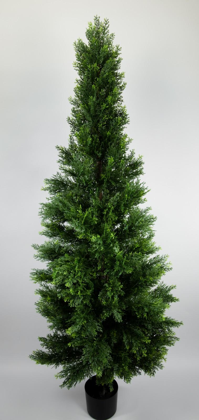 zeder konifere natura 180cm gr n la kunstpflanzen k nstliche pflanzen thuja ebay. Black Bedroom Furniture Sets. Home Design Ideas