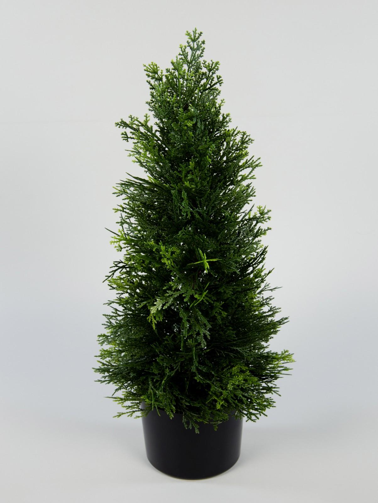 zeder konifere natura 60cm gr n la kunstpflanzen k nstliche pflanzen thuja ebay. Black Bedroom Furniture Sets. Home Design Ideas