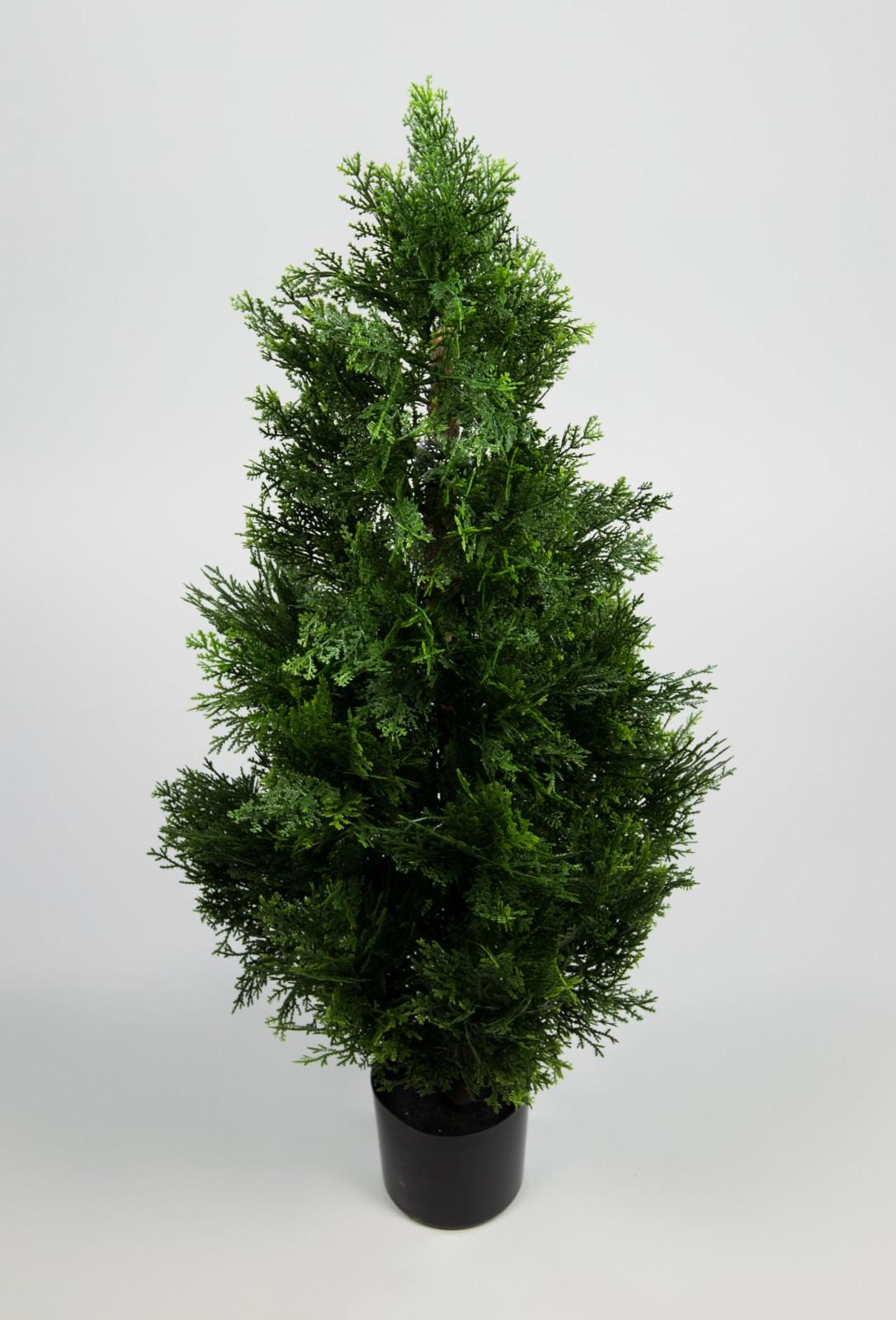 zeder konifere natura 90cm gr n la kunstpflanzen k nstliche pflanzen thuja ebay. Black Bedroom Furniture Sets. Home Design Ideas
